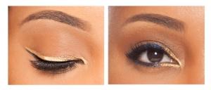 Goldener Eyeliner hochglänzend und wasserfest